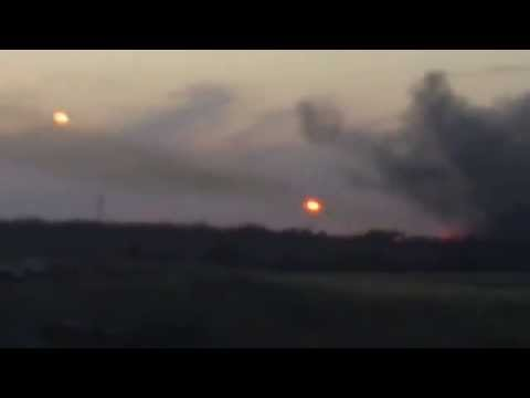 UKRAINE 2014 - Ukrainian territory shelled from the Russian side of the border