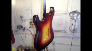 Painting a Sunburst Stratocaster at Cara Custom Hot Rod Guitars