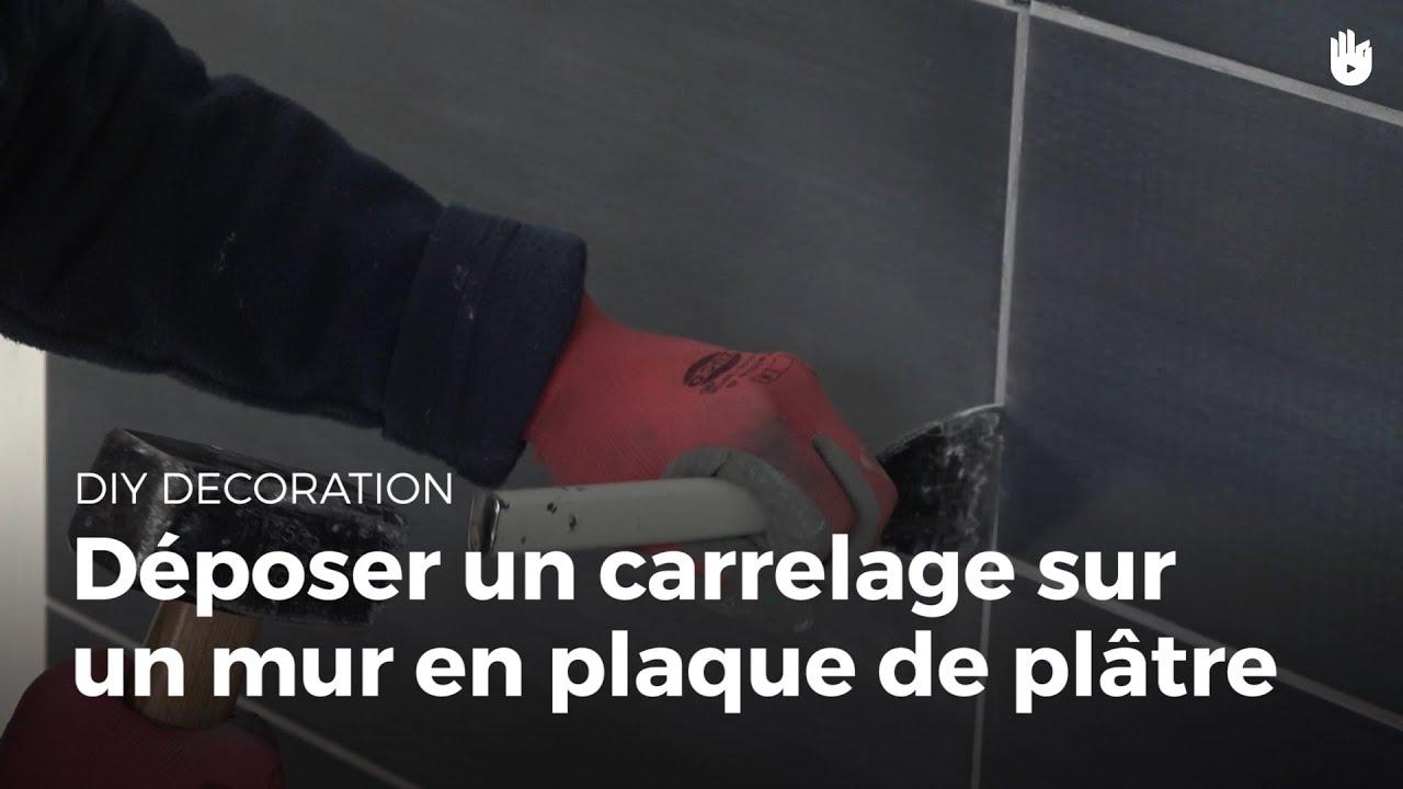 Enlever Carrelage Sur Placo déposer du carrelage sur un mur en plaque de plâtre | bricolage