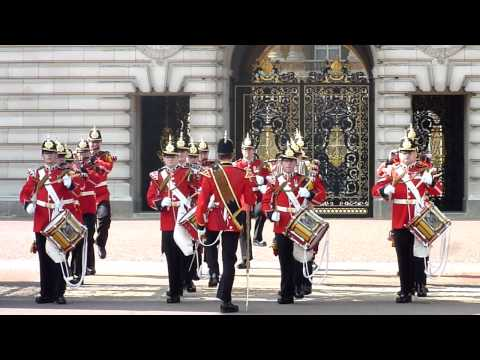 Changing the Guard at Buckingham Palace, London, end part