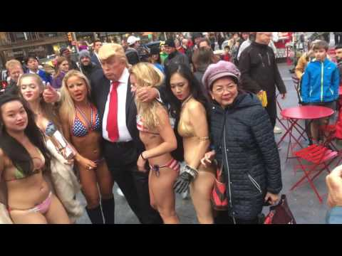 """Donald Trump"" In Times Square (10.25.16)"