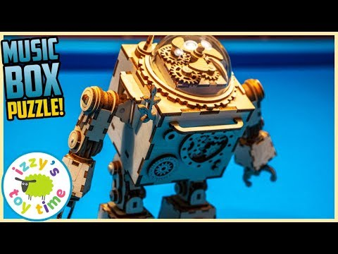 ROBOT MUSIC BOX! BREATHTAKING Wood Puzzle with Izzy's Toy Time!