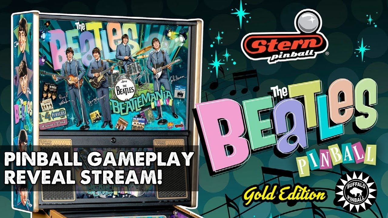 THE BEATLES pinball machine gameplay reveal with Rudy, live from Tilt!