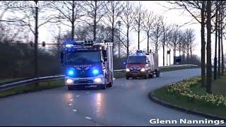 Brandweer Utrecht en Zuid Holland Zuid naar een grote brand aan de Kilweg in Dordrecht
