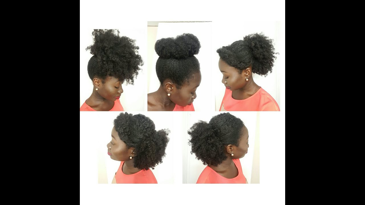 5 simple natural hairstyles