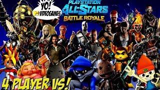 Playstation Allstars Battle Royale! 4 Player Vs. Mode! - YoVideogames
