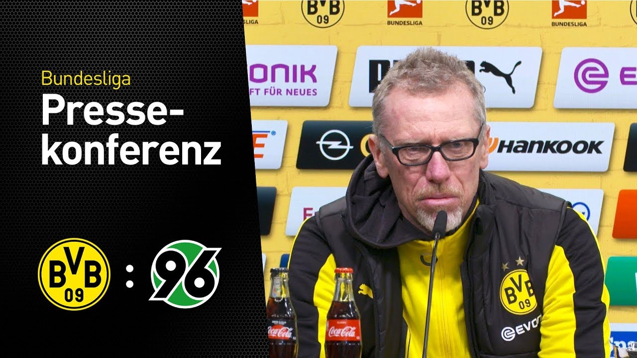 """Peter Stöger: """"Gute Reaktion auf die Enttäuschung""""   BVB - Hannover 96 1:0"""