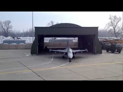 Hungarian Air Force TANGO Alert Training - Saab JAS 39 Gripen Engine Start - Takeoff