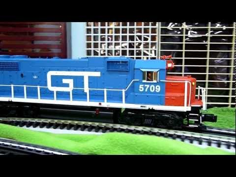 Tracking the O Scale Grand Trunk Western GP38-2 Diesel.