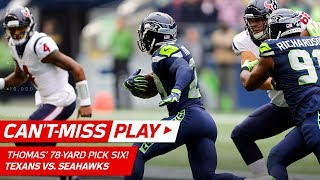 Earl Thomas' Amazing 78-Yd Pick Six Off Watson's Pass! | Can't-Miss Play | NFL Wk 8 Highlights