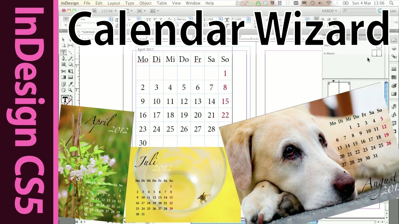 Indesign Calendar Wizard Tutorial (Foto book hack 2012)