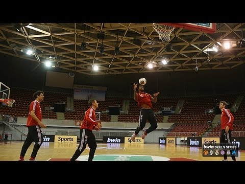 FC Bayern München stars show off their skills... on the basketball court!