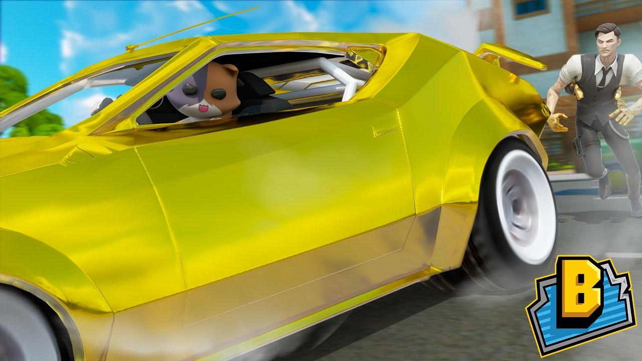 KIT STEALS MIDAS CAR!!! - Fortnite Season 3