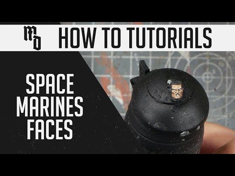 How to Quickly Paint Space Marine Faces