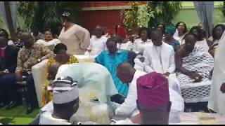 Happening now;scenes from Becca's marriage ceremony