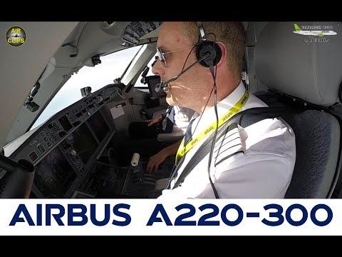 CS300 Riga-Paris Air Baltic Cockpit Preview: HD DVD Quality FOR FREE! [AirClips full flight series]