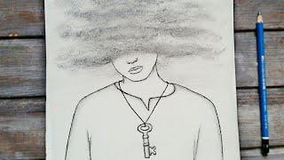 رسم سهل تعليم رسم ولد حزين بالرصاص للمبتدئين بطريقة سهلة وبسيطة رسم كيوت Youtube