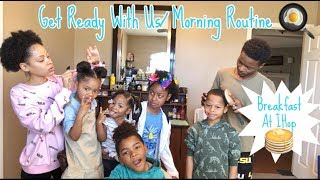 VLOG: Morning Routine: Get Ready With Us: Breakfast At IHop Before School