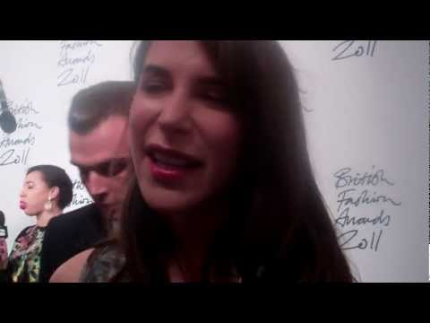 Caroline Sieber on Christopher Kane at The British Fashion Awards | Grazia UK