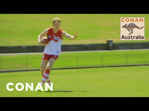 Conan Plays Australian Rules Football With The Sydney Swans - CONAN On TBS