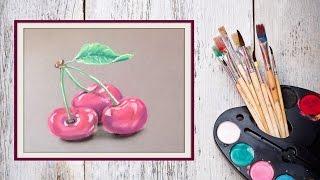 Как нарисовать вишню пастелью! #Dari_Art(лето пора вкусных ягод и фруктов! В этом видео предлагаю вам создать наивкусшейшую вишню пастелью! Для..., 2015-07-02T13:26:24.000Z)