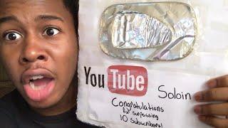 New 10 subscriber aluminum youtube play button reward!!