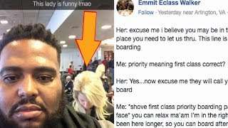 Black Guy Gets Hilarious Revenge On Racist White Lady Who Tried To Cut Him In Line. thumbnail
