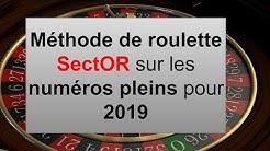 Méthode de roulette SectOR sur les numéros pleins pour 2019