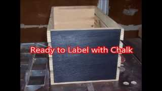 How To Add Chalkboard Paint To Your Wood Crates