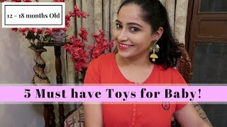 10 Must Have Toys For 12   18 Months Old Toddler   Indian Mommy Vlogging Channel