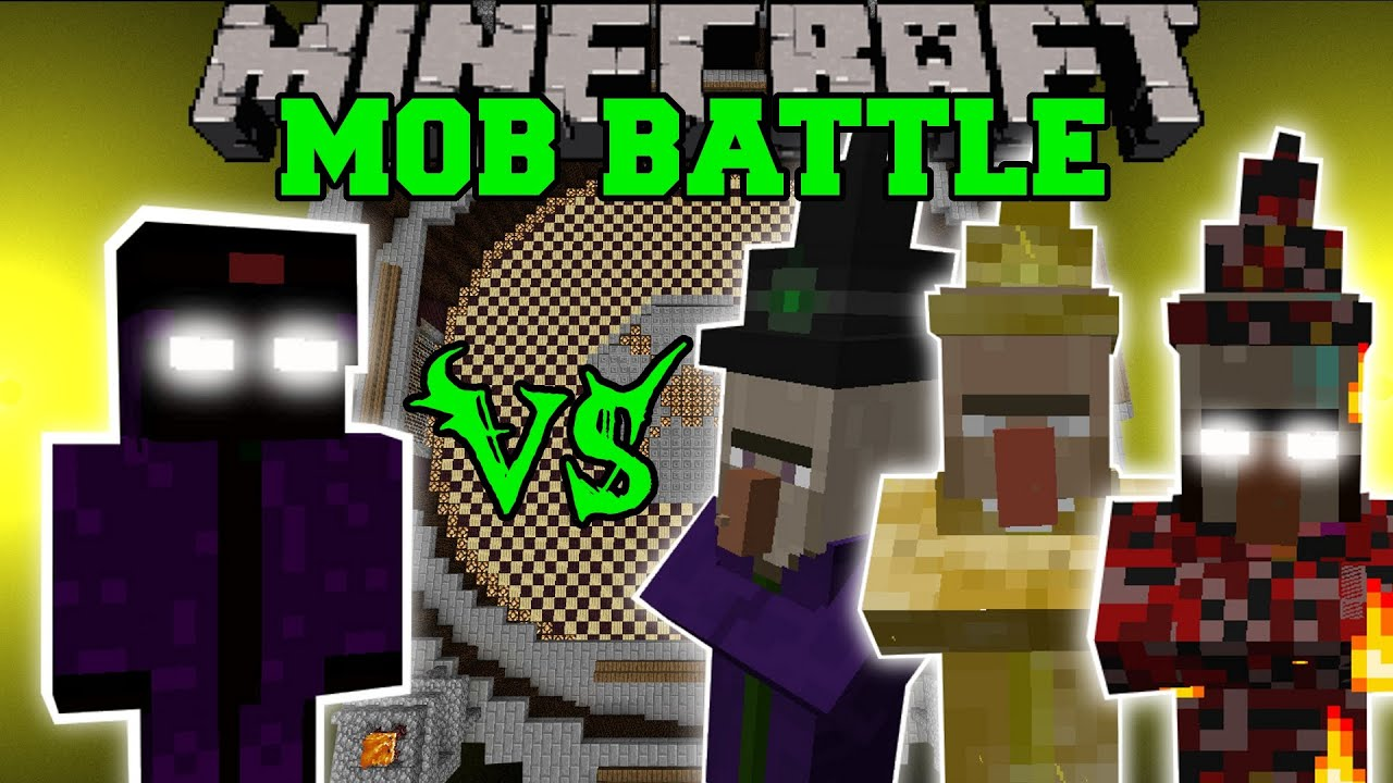 Witch King Vs Tons Of Witches Minecraft Mob Battles Mob Armor Mods Youtube