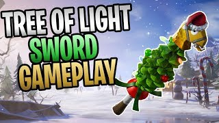 FORTNITE - New Tree of Light Sword Save The World Gameplay (Fully Upgraded, Legendary Perks)