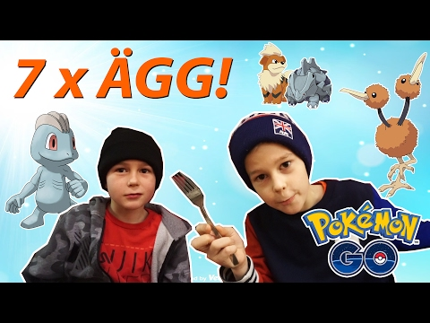Pokemon Go!   KLÄCKER 7 x ÄGG!   Mega-Snorlax-glitch   Crash Brothers