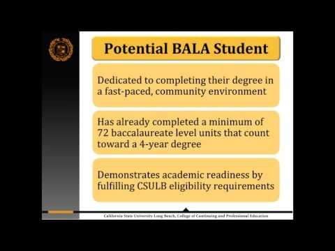 CSULB Bachelor of Arts in Liberal Arts - Info Session