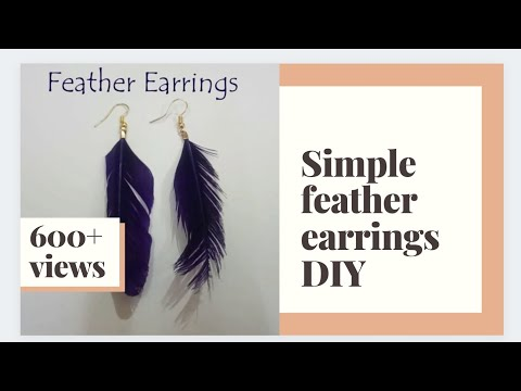 Simple Feather earrings | DIY Earrings
