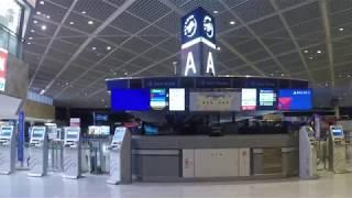 成田空港 JR線ホームから第1ターミナル出発ロビーまで