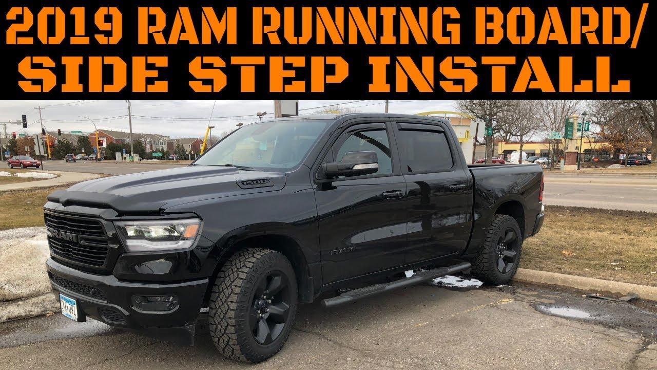 Dodge Ram Factory Running Boards >> 2019 Ram 1500 Side Step Running Board Installation Video