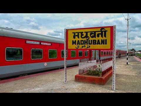 Jaynagar-New Delhi Swatantrata Senani Superfast Express Arriving at Madhubani Railway Station