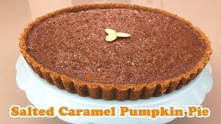 Salted Caramel Pumpkin Pie - Cheeky Crumbs