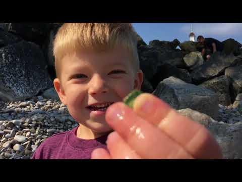 Life in a Day Father Son Sea Glass Treasure Hunt Lakeside Ohio part 3 of 9