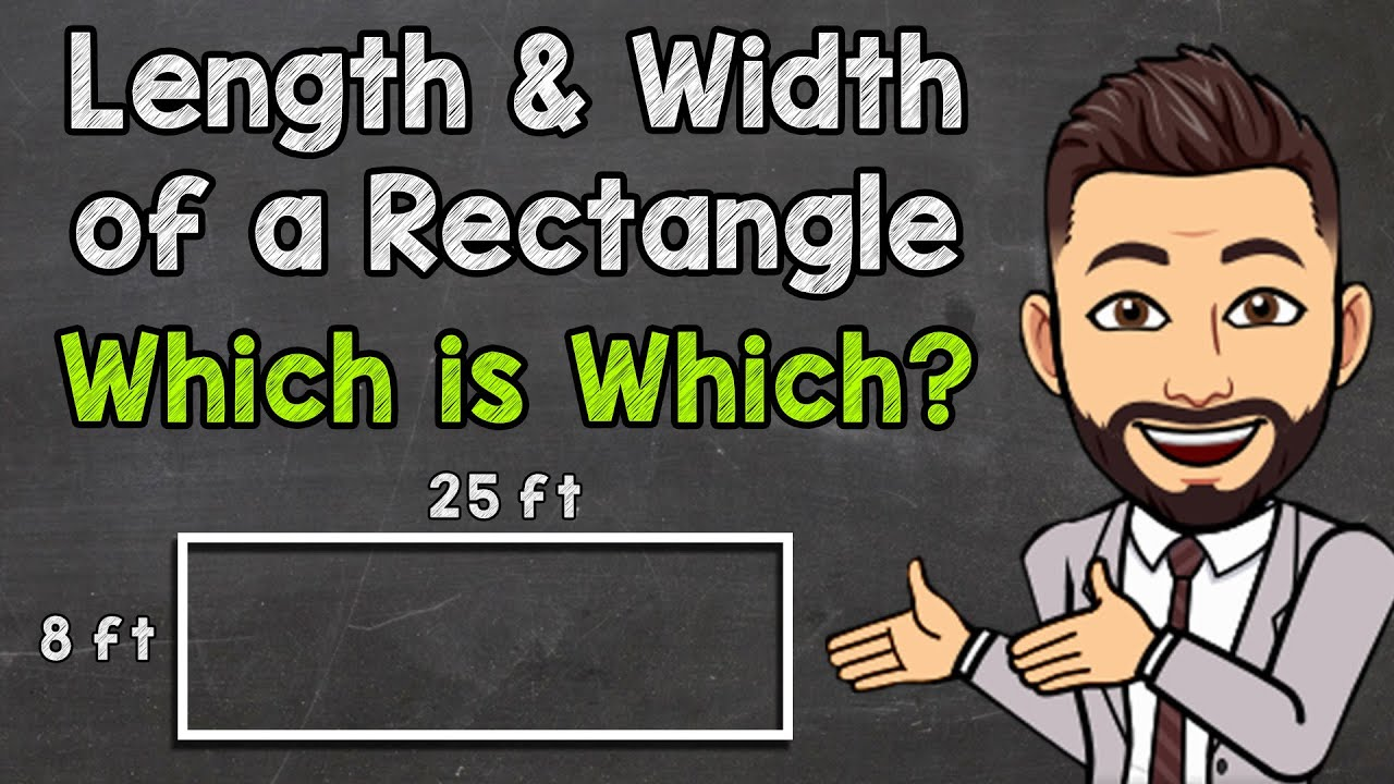 Download Length and Width of a Rectangle   Which is Length and Which is Width?