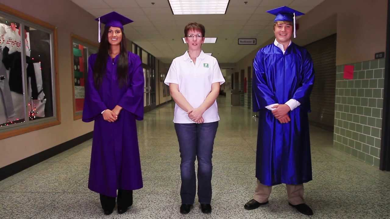 High School Cap and Gown | How to Wear Instructional Video - YouTube