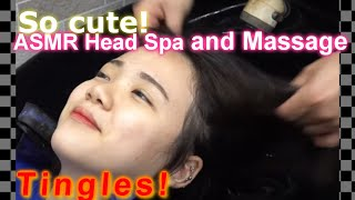 ASMR shampooing treatment befo…