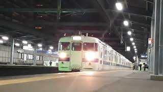 415系 千早駅到着.発車シーン