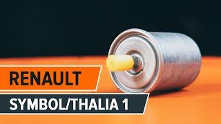 Cómo cambiar el filtro de combustible en RENAULT SYMBOL/THALIA 1 [INSTRUCCIÓN AUTODOC]