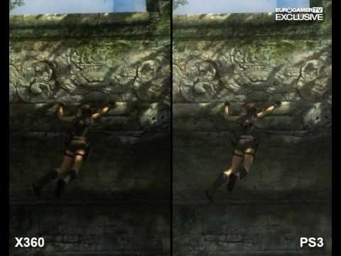 Tomb Raider Underworld Video Comparison Xbox360 Vs Ps3 Youtube