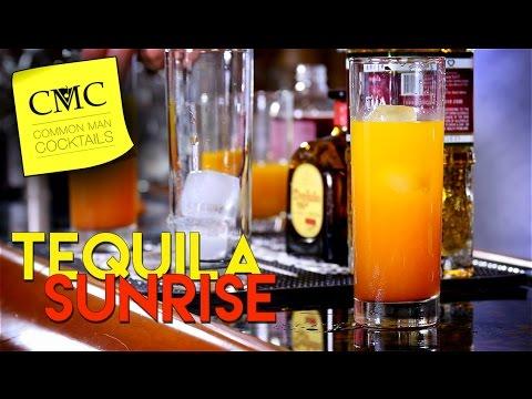 3 Tequila Sunrise Cocktails 🍹 / Blanco, Reposado & Anejo