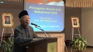 Ceramah Ustadz Porf Dr. Miftah Faridl - Peringatan Maulid Nabi 2015 / 1436H - KJRI Los Angeles