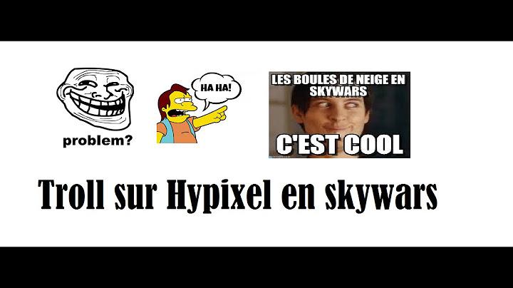 troll sur hypixel en skywars