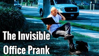 WORK From ANYWHERE With The Invisible OFFICE Chair | magic prank |